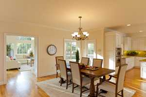 The informal dining room opens up to the kitchen and family room.
