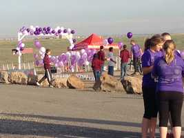 The family of an 18-year-old cross country runner who lost her life nearly a year ago hit the trail Monday to bring awareness to a rare and deadly disease.