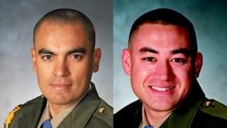 California Highway Patrol Officers Juan Gonzalez, at left, and Brian Law (courtesy police).