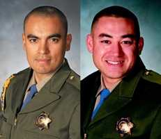 California Highway PatrolOfficers Juan Gonzalez, at left, and Brian Law (courtesy police).