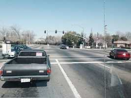 Two Sacramento cops were injuredand taken to the hospital Tuesday following a vehicle pursuit.