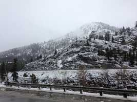 Snowfall in Cisco Grove.