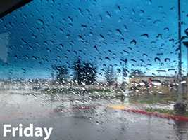 See photos from Friday as the second wave of rain and snow hit Northern California.