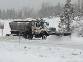Snowfall in Kingvale.
