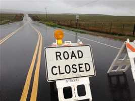 White Rock Road was closed between Scott and Placerville roads because of flooding.