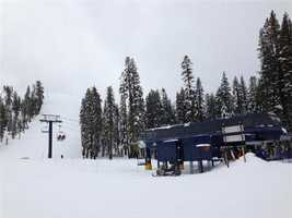 There were no lines on Friday at Sugar Bowl, which had 21 inches of new powder.