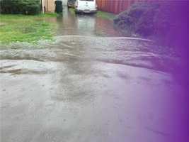 A Stockton neighborhood dealt with some flooding because of the rain.