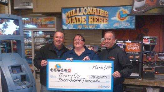 Tooley Oil earned $300,000 after a winning $60 million Powerball ticket was sold at the store.
