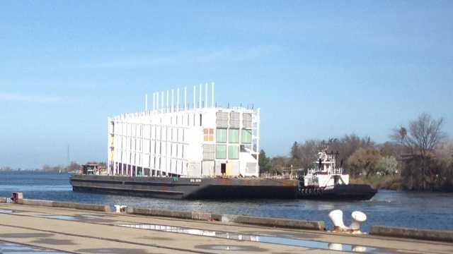 Google barge arrives
