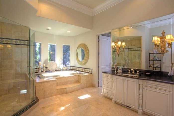 Here's the master bathroom.