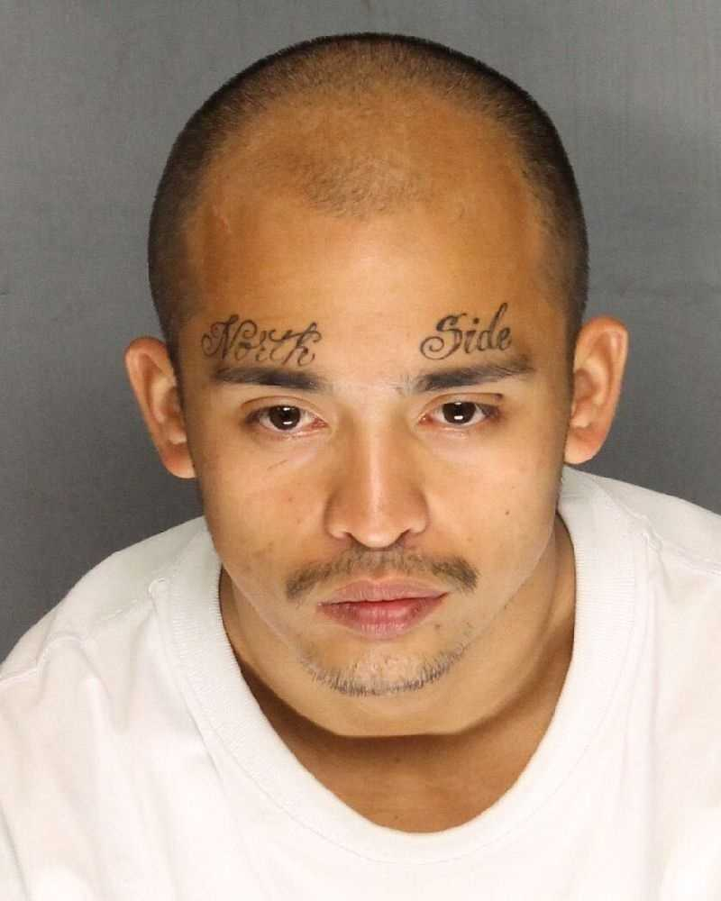 Raul Manginsay, 24, was arrested on suspicion of robbery and on other gang and weapons charges, Stockton police said.