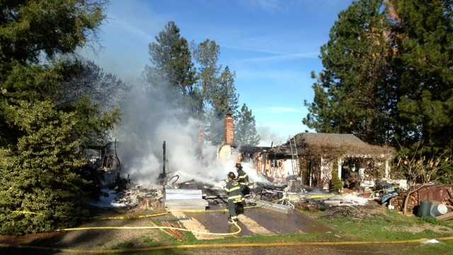 Two people died at a home in Placerville on Friday morning, fire officials said (March 7, 2014).