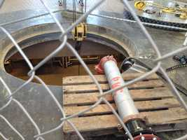 The sediment removal operation is expected to last three to four weeks.