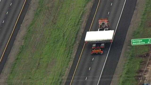 As it approached a Dunnigan exit, the trailer was about 41 miles from Sacramento.