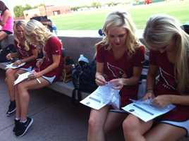 The Arizona Cardinals cheerleading squad participated, as well.