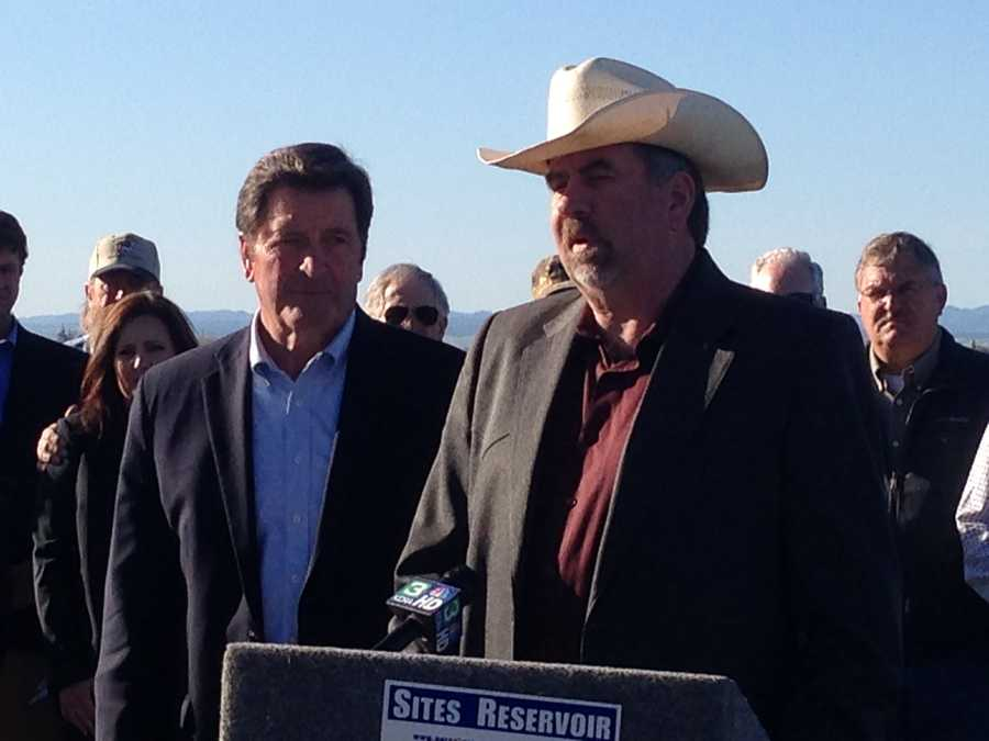 Rep. John Garamendi, D-Fairfield, and Rep. Doug LaMalfa, R-Richvale, speak at a news conference Wednesday in Maxwell.