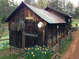 Inside this cabin, visitors get a glimpse at life in the 1800s.