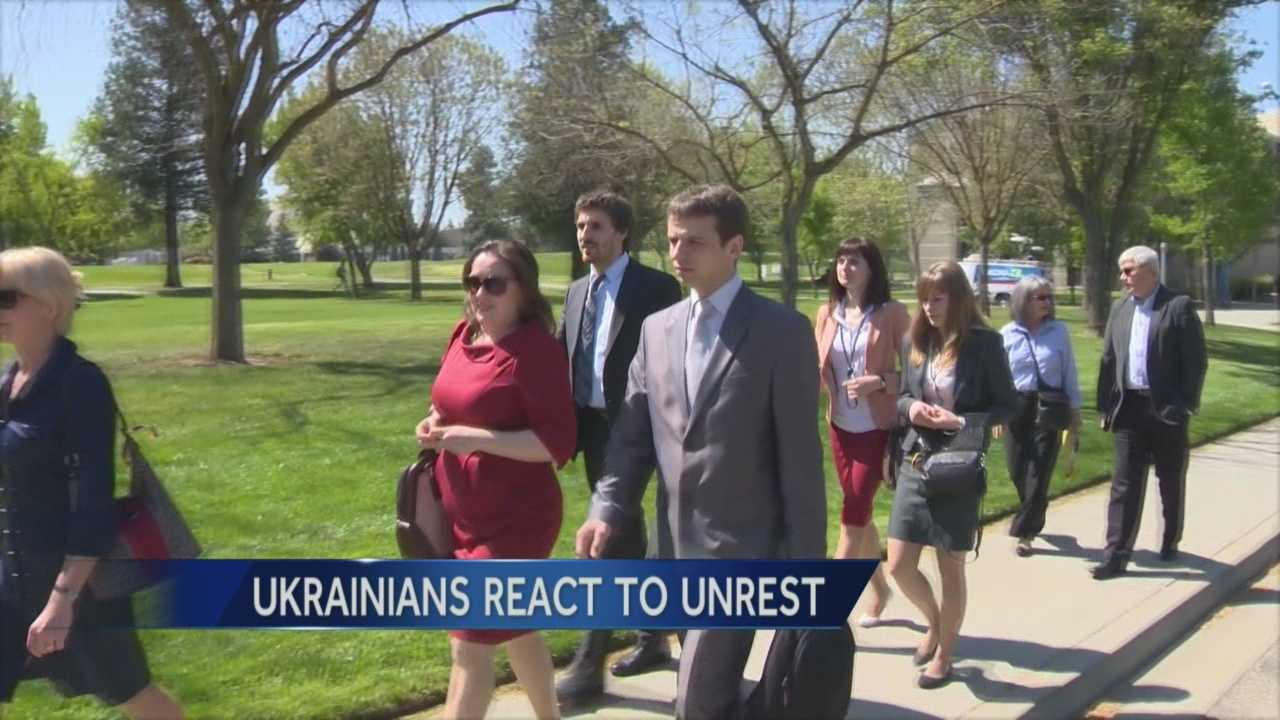 Stanislaus State University hosted a discussion with visiting Ukrainian students to explore their feelings about the unrest in their homeland.