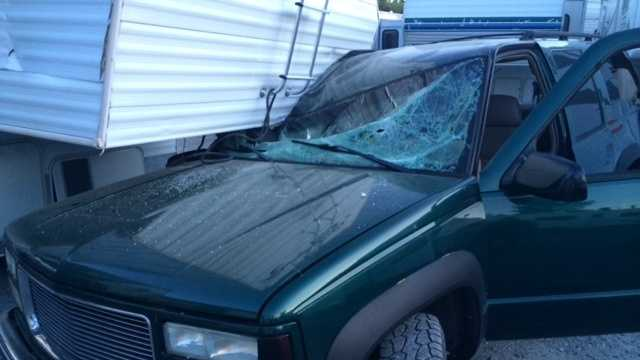 The chase finally ended in an RV park in Colfax. The driver smashed into several trailers, causing significant damage.