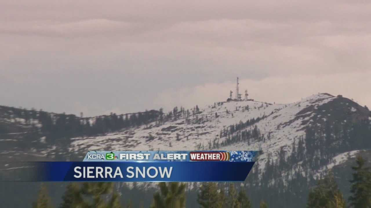 Much needed snow started falling Tuesday in the Sierra and has yet to cause any problems.