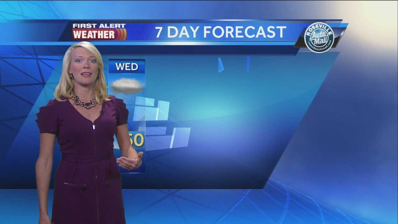 Tamara Berg times out the rain and snow as a storm system moves into Northern California.