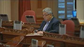 State Sen. Ron Calderon is under indictment on federal corruption charges and had his office raided by the FBI. He is taking a paid leave of absence while fighting a 24-count indictment on corruption charges. Read more.