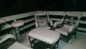 Snowfall in Nevada City