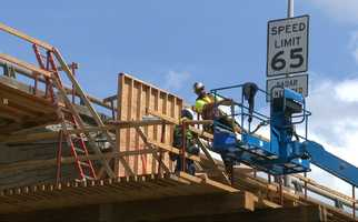 Making the improvements to the freeway is expected to extend the life of the structure decks to about 20 years.