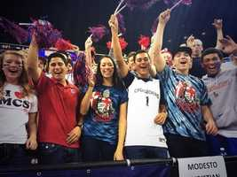 The Crusaders fans helped cheer their squad to victory.