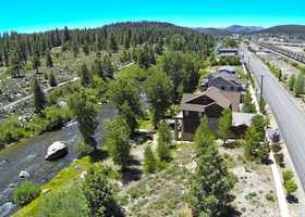 This home sits on the banks of the Truckee River.
