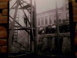 In the 1800s, workers used jacks to lift the buildings up.