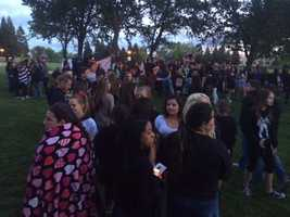 Hundreds of people showed up in Roseville Friday night to remember 14-year-old Anahi Tovar.