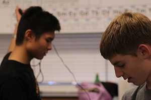 Junior captain Daniel Shen and sophomore math specialist Jack Gurev