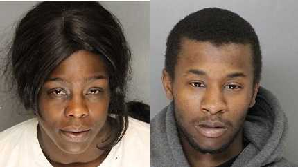 From left: Latima Coleman, 30, and Dwight Slay, 27 (April 10, 2014)