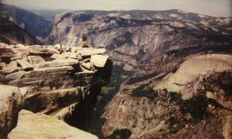 8.) I climbed to the top of Half Dome in Yosemite. Look closely: That's really me in this photo, with my then-boyfriend, now husband, Mike.