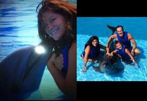 Bonus slide! I've always wanted to swim with a dolphin. I was able to cross that item off my bucket list about two years ago. Then I had my family join the fun the following year.