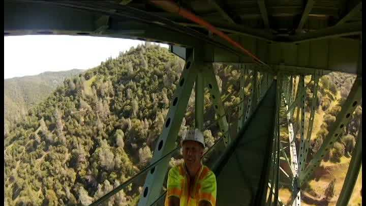 GoPro footage of Foresthill Bridge retrofitting project