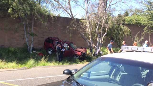 A woman and a child died and another child was hurt after a crash along Interstate 80 on Thursday afternoon, according to the California Highway Patrol (April 17, 2014).