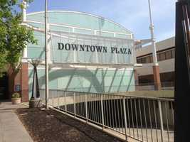 Some stores in the Downtown Plaza closed for business on Saturday as the city of Sacramento prepares for demolition of the planned arena.