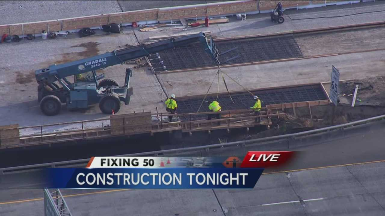 Officials said construction is on schedule after the first day of the Fix 50 project.