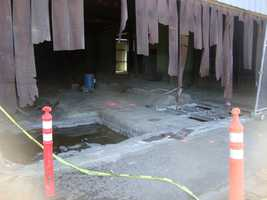 As the State of California began cleanup they saw firsthand the contamination of the soil, concrete and ground water as they began to cut out the flooring of this building in Elmira. The former wood treatment facility was using chromium and arsenic to make pressure treated lumber. The site is still contaminated.