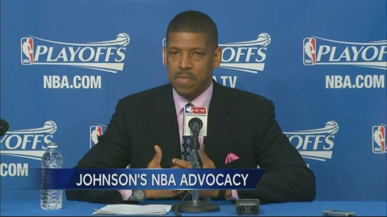 Mayor Kevin Johnson is acting as NBA players advocate after racial charged comments attributed to LA Clippers owner Donald Sterling were made public.