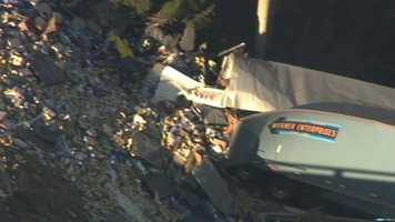 A big rig traveling on Interstate 5 near Modesto crashes into a creek in a deadly overnight crash Tuesday.