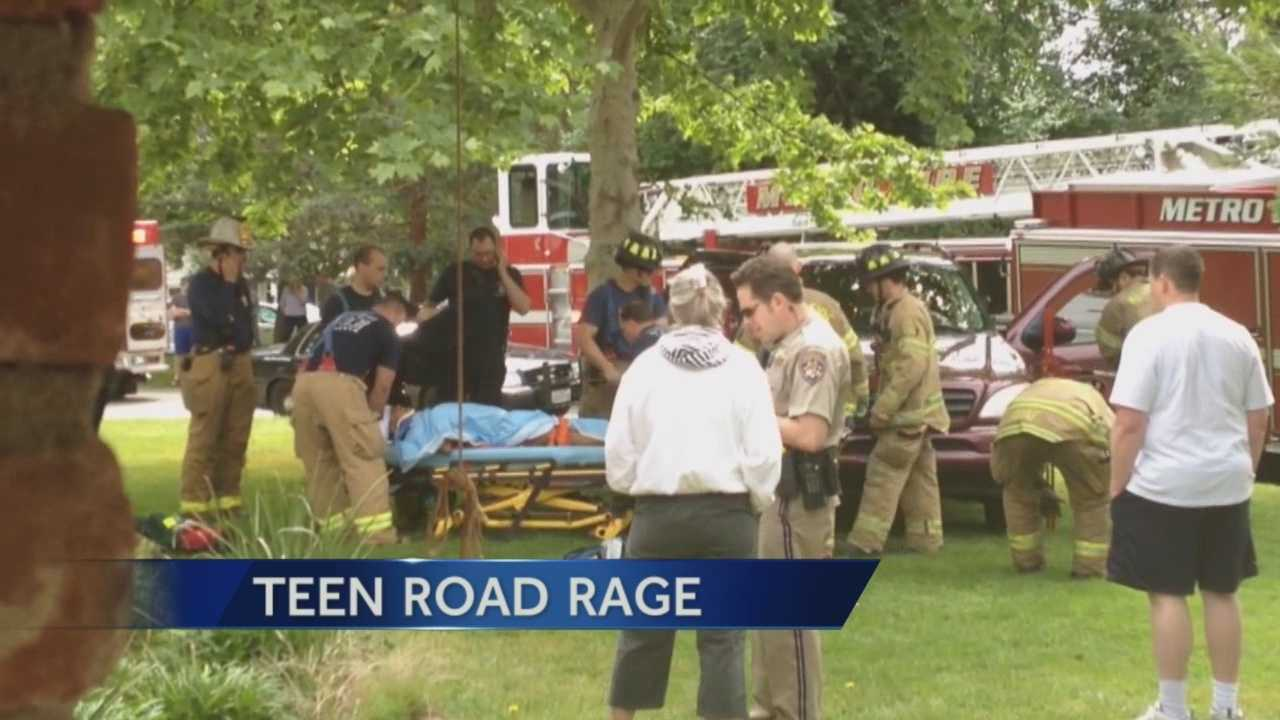 Questions of road rage arise in an accident between a 17 year old SUV driver and a 13 year old boy.