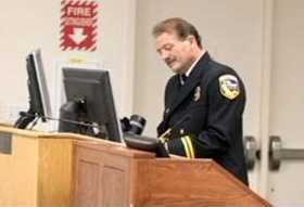 Cal Fire Battalion Chief Orville Fleming speaks at a graduation event (KCRA file photo).