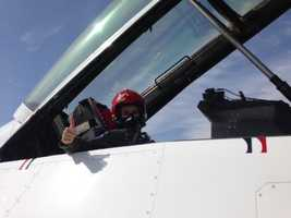 KCRA 3's Mallory Hoff got a chance to fly with the U.S. Air Force Thunderbirds before the group's show, Thunder Over Solano, this weekend at Travis Air Force Base.