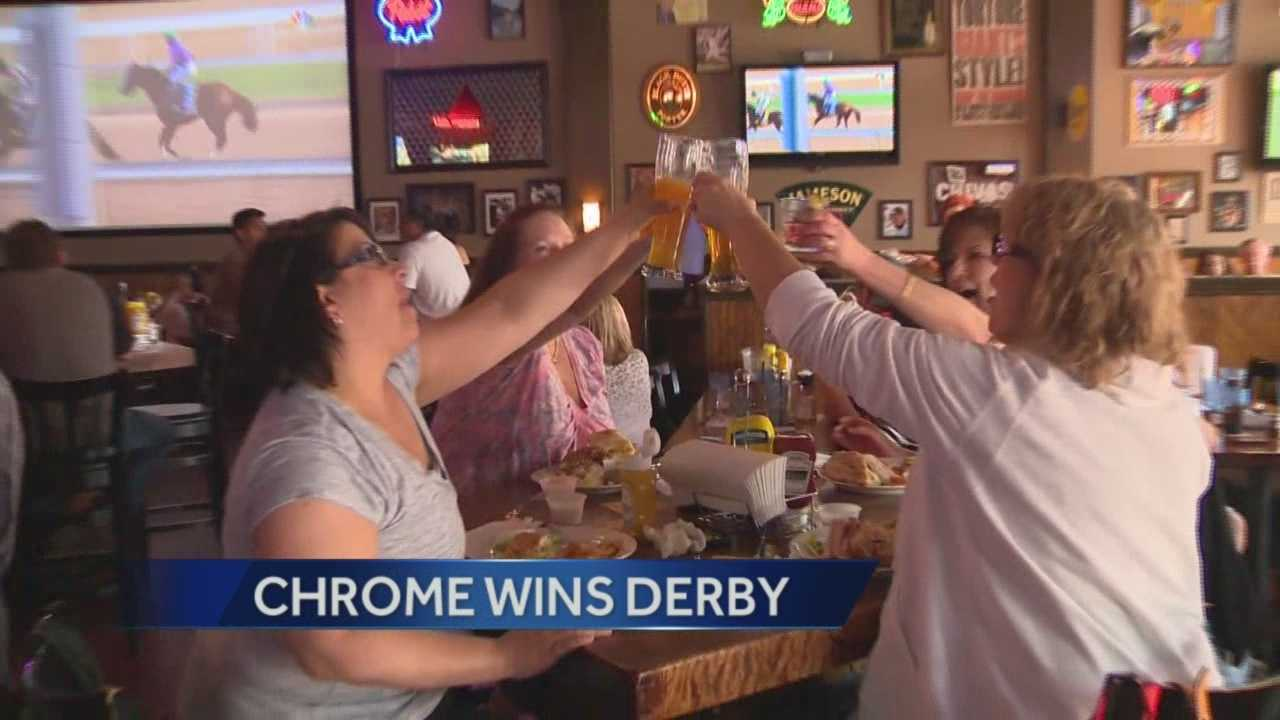 Fans celebrate California Chrome's Yuba City win at Kentucky Derby