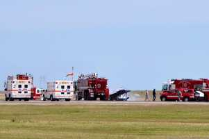 Martinez said organizers estimated that 100,000 people attended the air show Sunday.