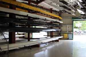 Inside Capital Crew's boathouse.