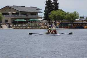 Capital Crew's women's varsity 4 boat missed qualifying for nationals, which will be held mid-June at the Sac-State Aquatic center-- their home course.